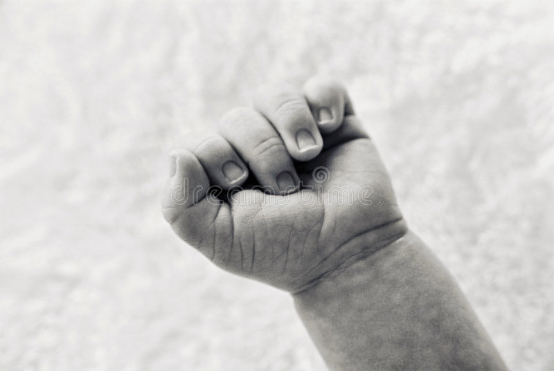 Schätzchen-Hand stockbild