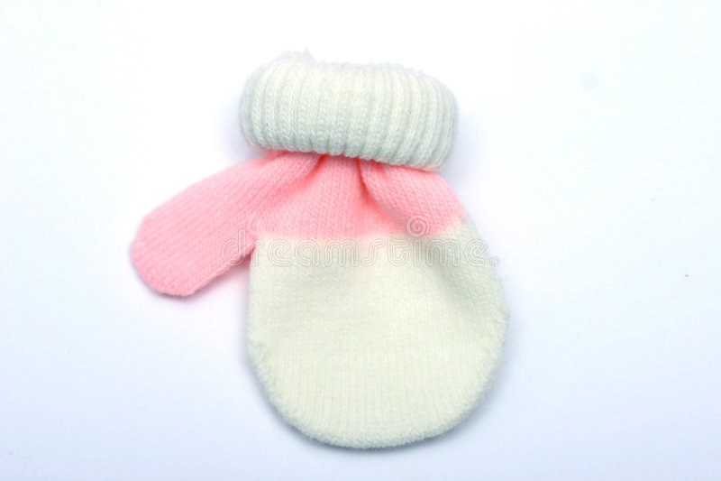 Schätzchen-Handschuh stockbild
