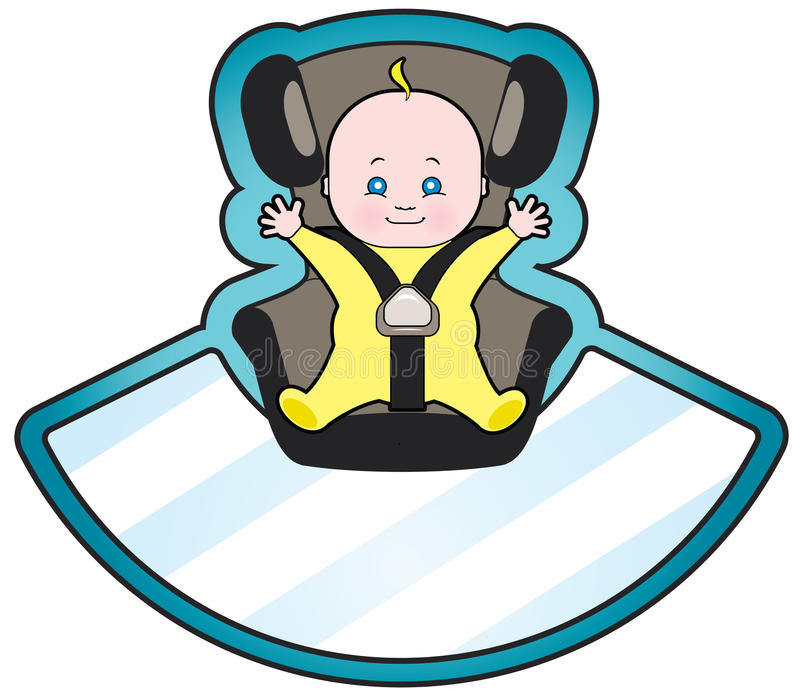 Schätzchen im Autositz lizenzfreie abbildung