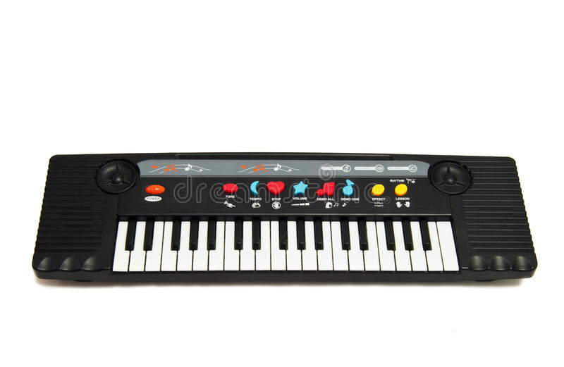 Schätzchen-Musik-Klavier-Spielzeug stockfotos