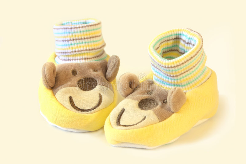 Schätzchen-Socken stockbilder