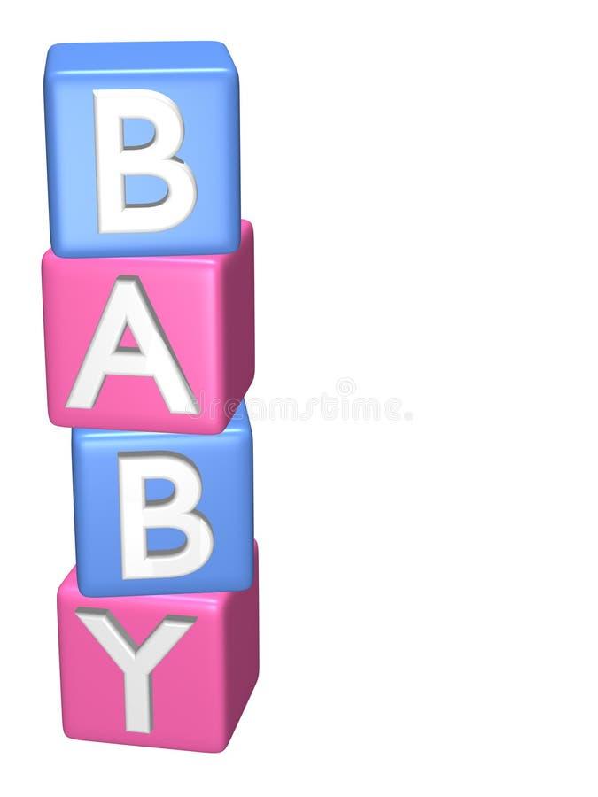 Schätzchen-Spielzeug-Bausteine stock abbildung