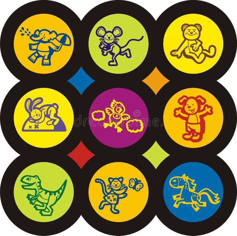 Schätzchen-und der Kinder Ikonen-Serie stock abbildung