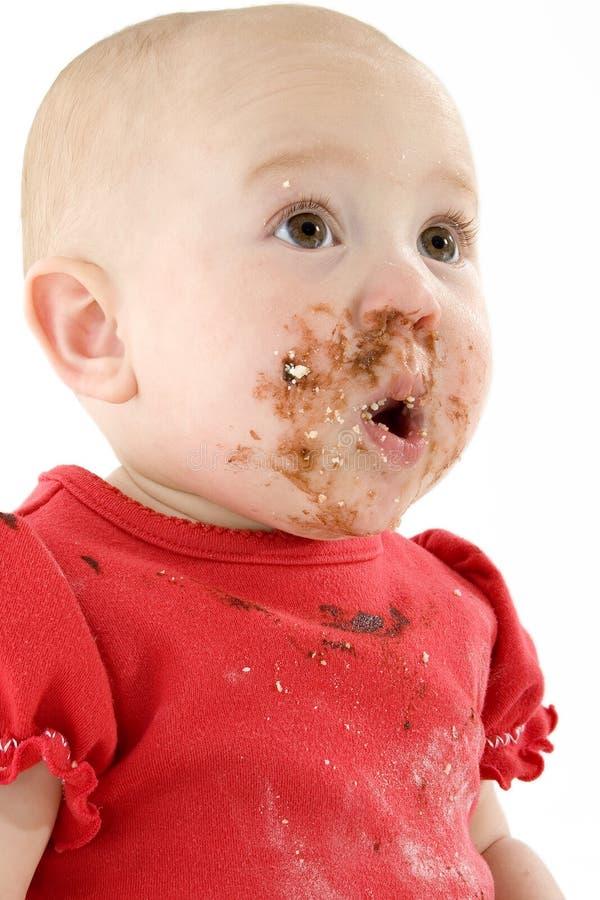 Schätzchen und Schokolade lizenzfreies stockbild
