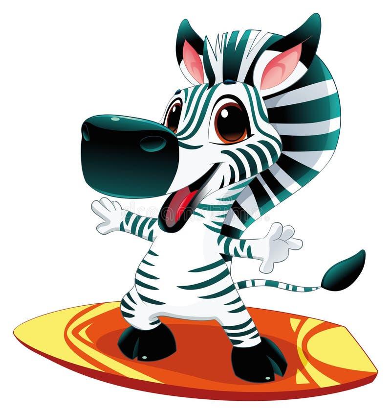 Schätzchen Zebra mit Brandung.
