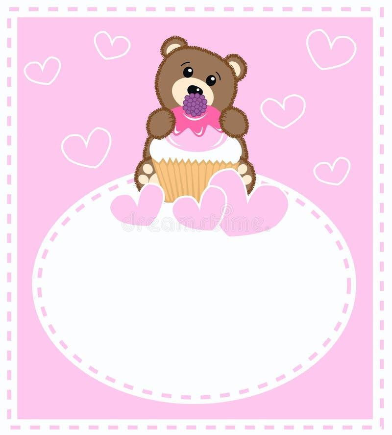 Schätzchenbärenkarte stock abbildung