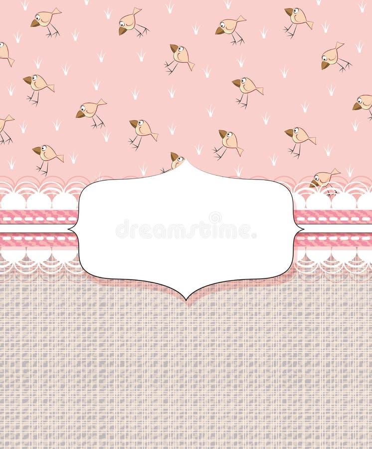 Download Schätzchenduschekarte vektor abbildung. Illustration von dekorativ - 27730099