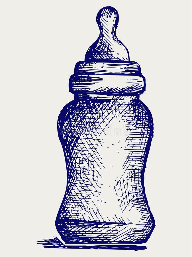 Schätzchenflasche vektor abbildung