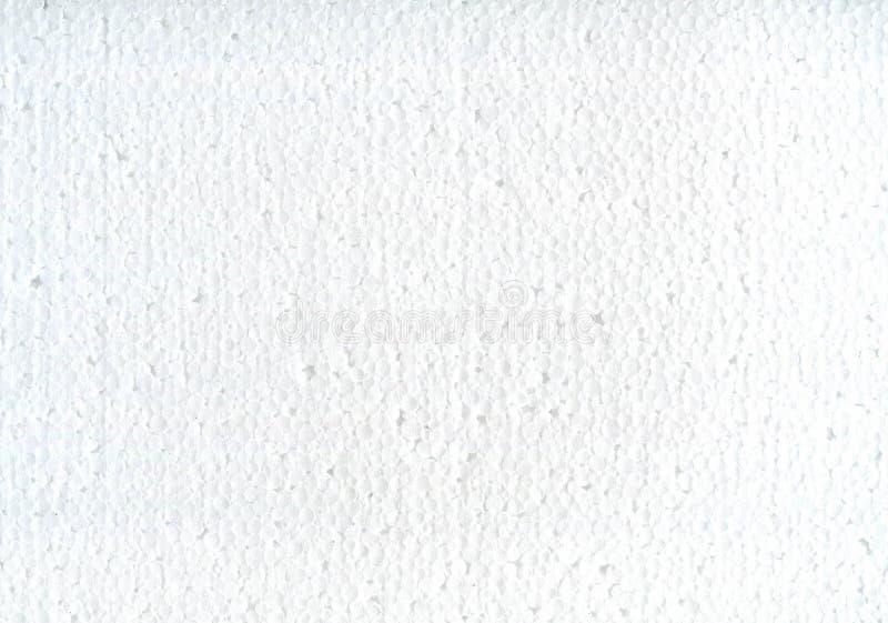 Schäumen weißer Beschaffenheitshintergrund des Polystyrens stock abbildung