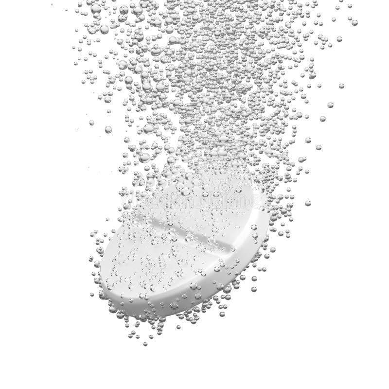 Schäumende dissolbving Tablette vektor abbildung
