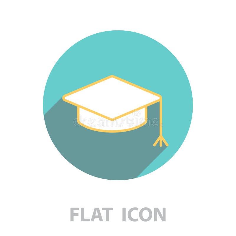 Schéma chapeau de chapeau d'obtention du diplôme illustration libre de droits
