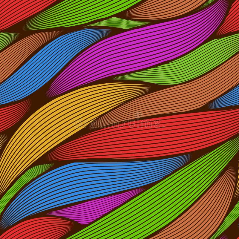Schéma coloré abstrait sans couture illustration de vecteur