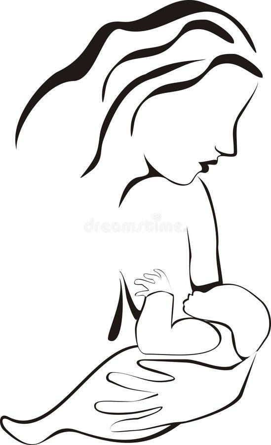 Schéma de allaitement illustration stock