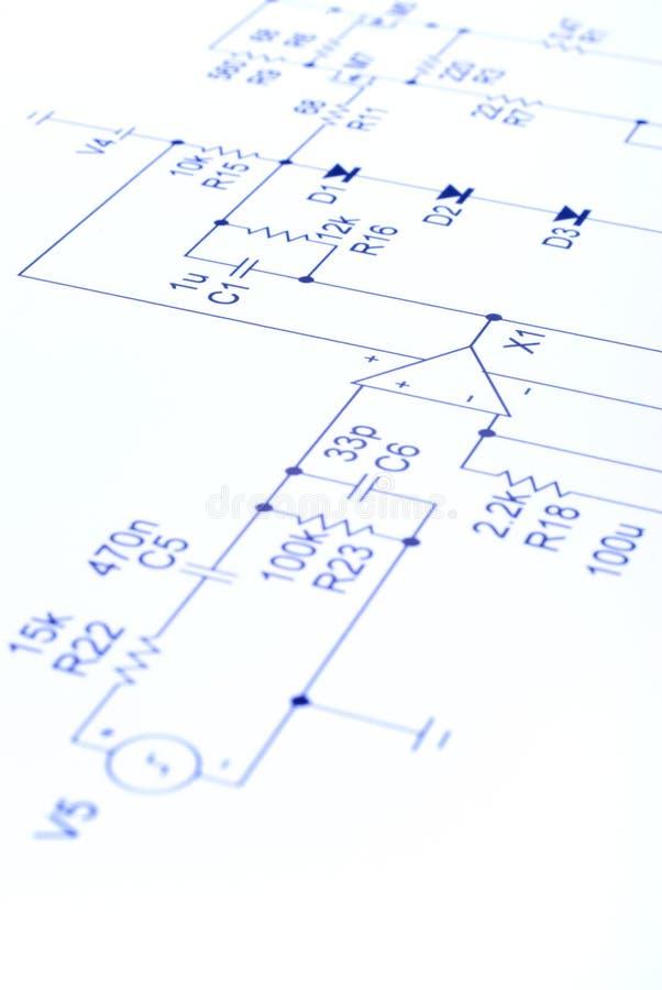 Schéma de circuit électronique photos libres de droits
