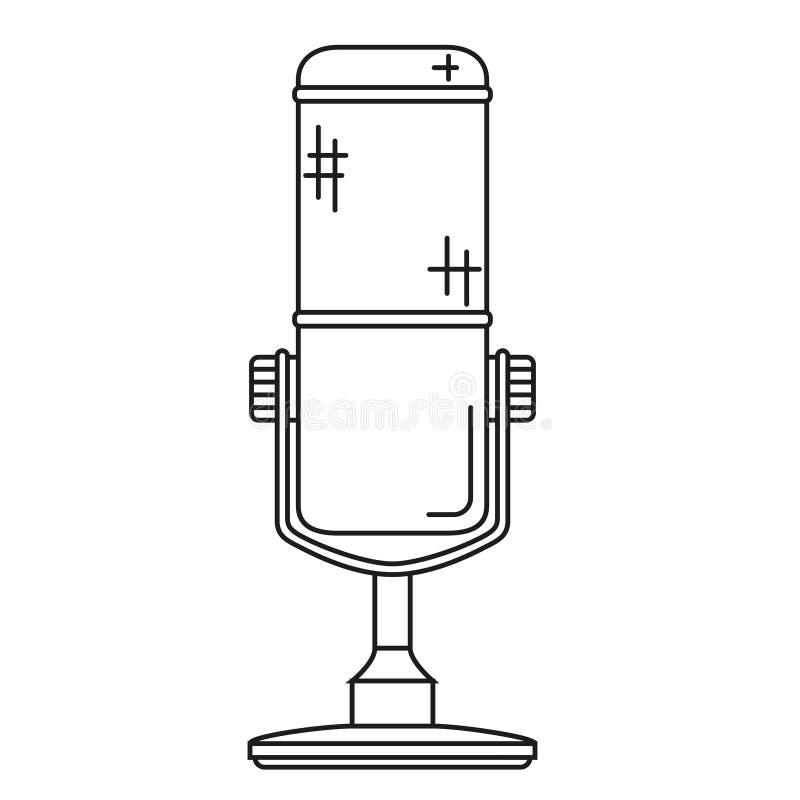 Schéma MIC sans fil noire et blanche illustration stock
