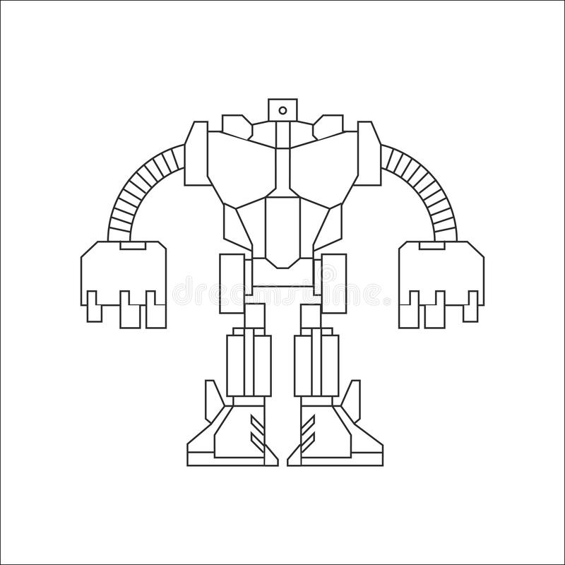 Schéma robot illustration stock