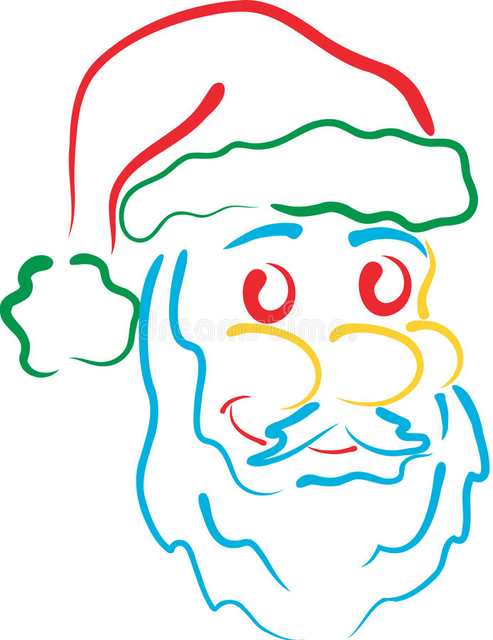 Schéma Santa illustration stock