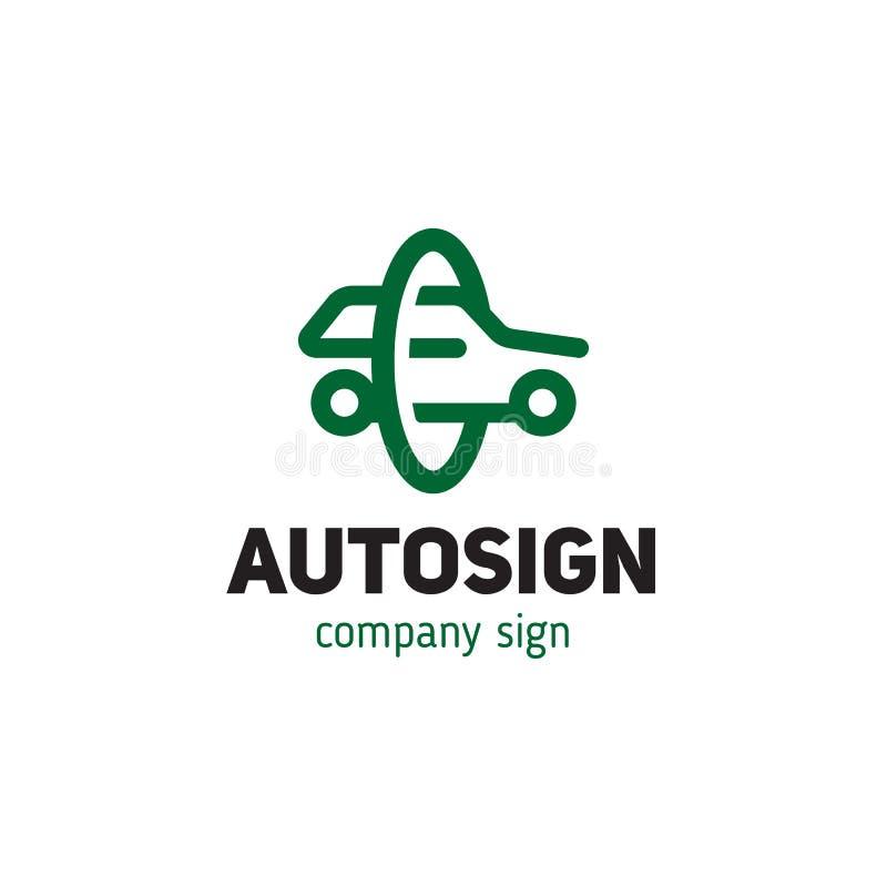 Schéma simple style de silhouette de voiture de signe illustration libre de droits