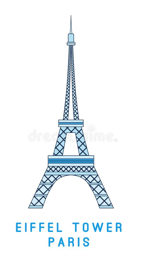 Schéma, Tour Eiffel, symbole de Paris, showplace européen illustration de vecteur