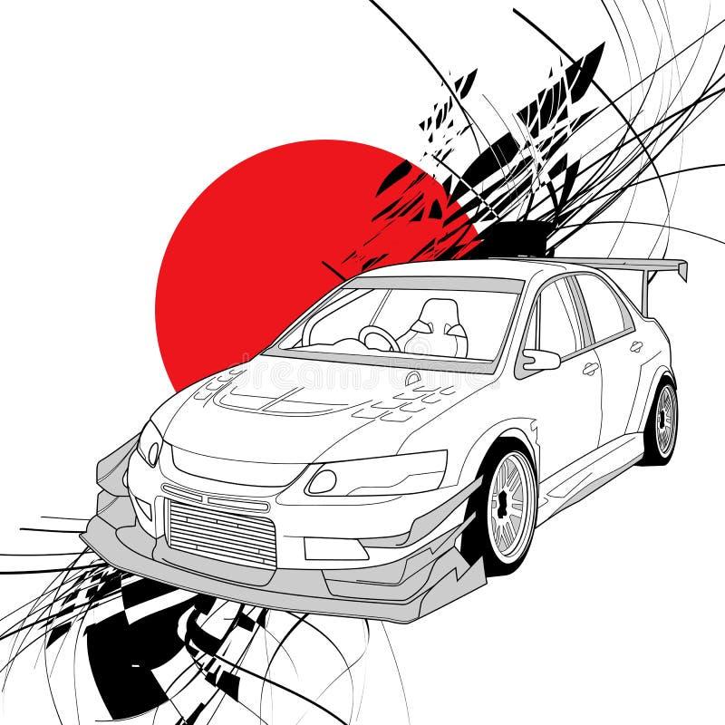 Schéma voiture de rassemblement illustration libre de droits