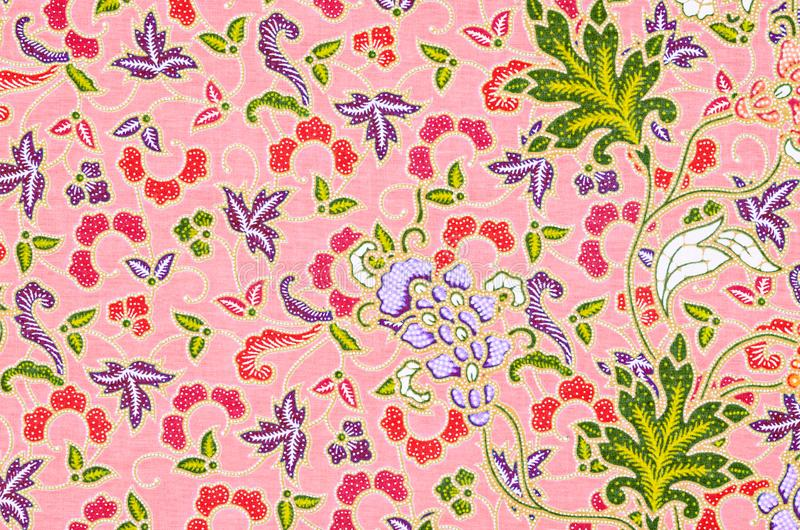 Schön Kunst vom thailändischen Batik-Muster stockfotografie