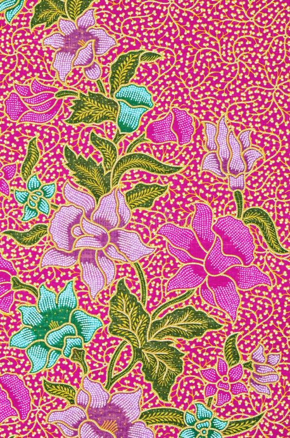 Schön Kunst vom thailändischen Batik-Muster lizenzfreie stockbilder