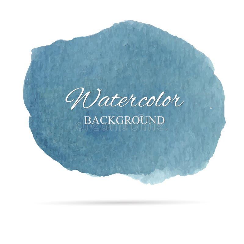 Schöne abstrakte Aquarellkunst-Handfarbe auf weißem Hintergrund, Bürstenbeschaffenheiten für Logo Es gibt einen Platz für Text Pe stock abbildung