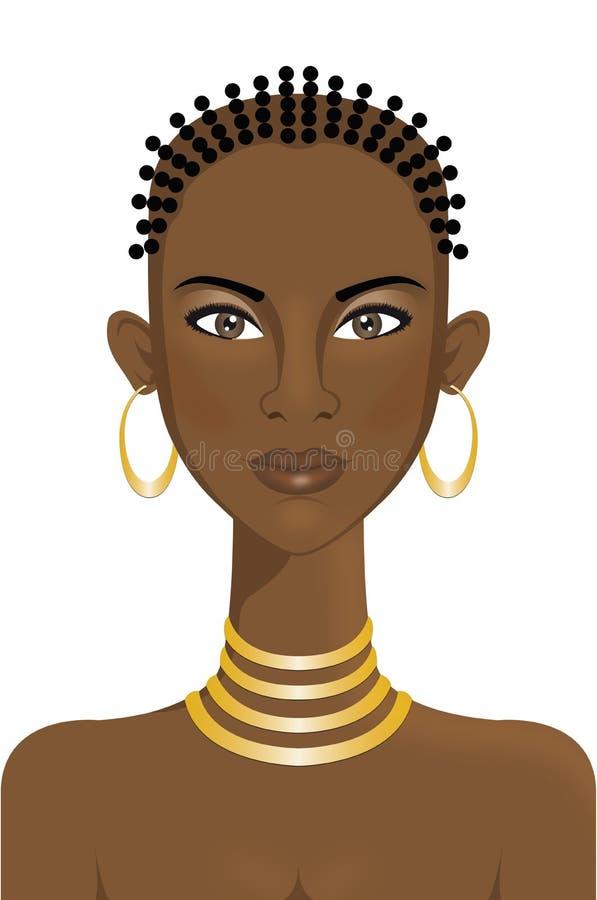 Schöne afrikanische Frau stockbild