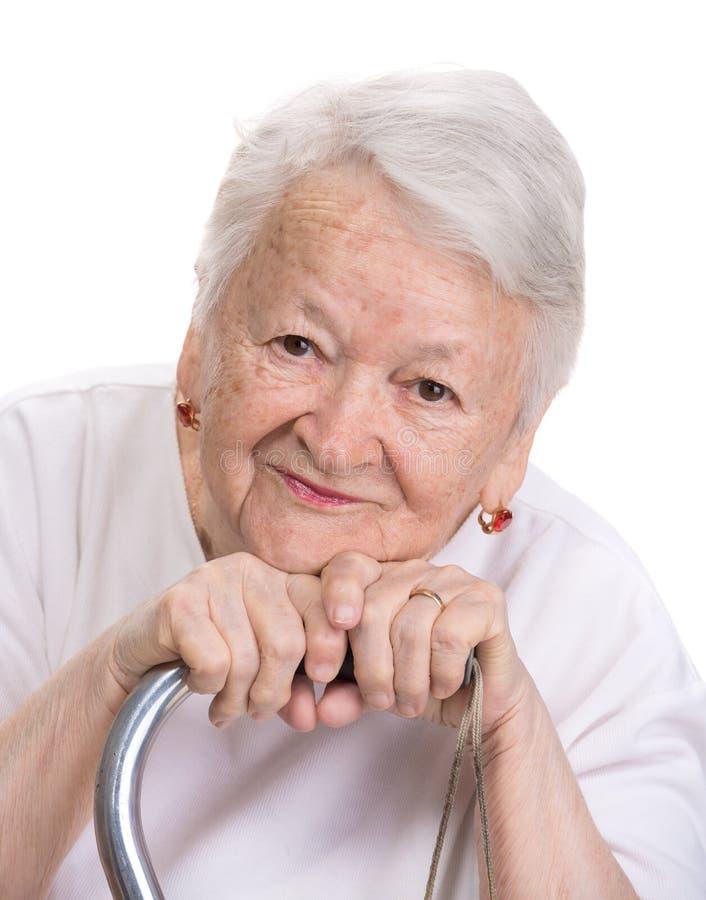 Schöne alte Frau stockbild. Bild von frau, schöne, alte