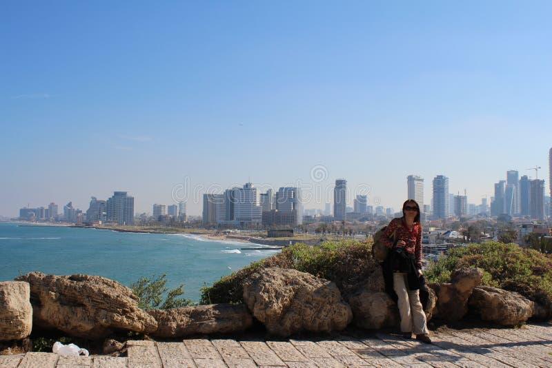 Schöne alte Stadt, Seeansicht in Jaffa, Tel Aviv, Israel stockfoto