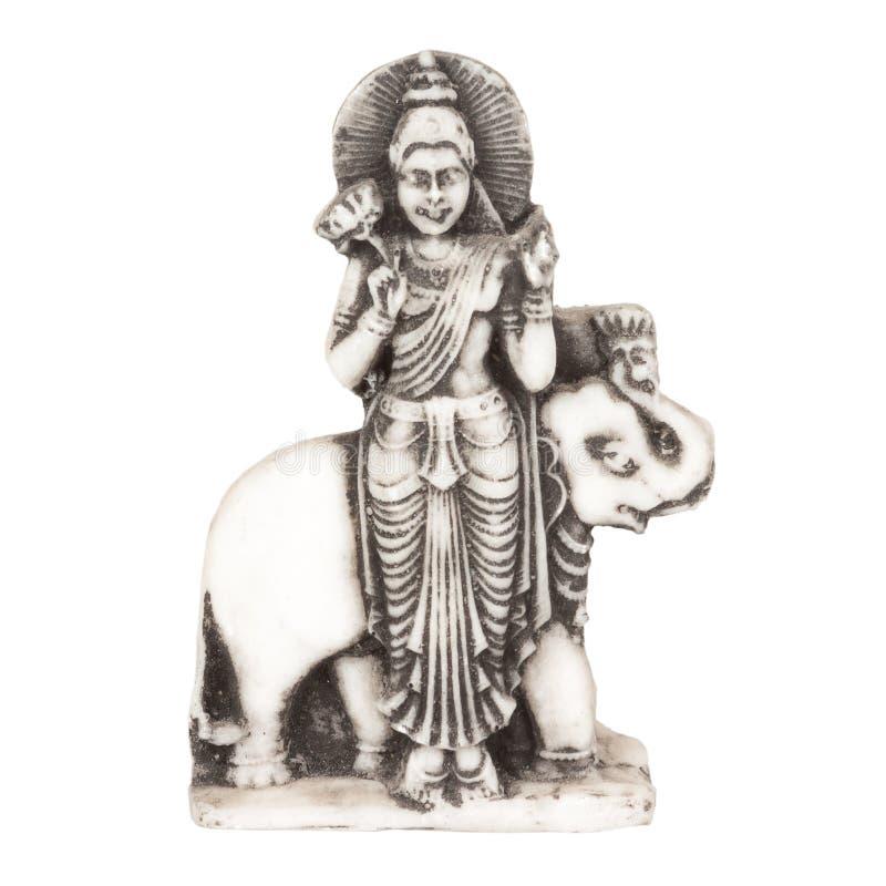Schöne alte Steinfigürchen von Buddha nahe Elefanten lizenzfreies stockfoto