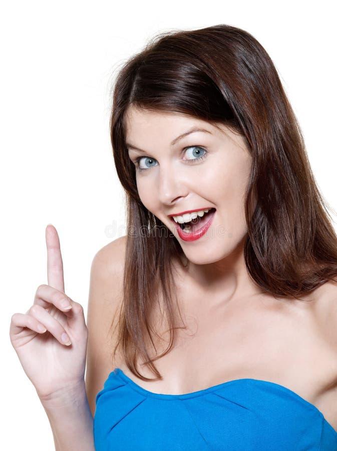 Schöne angespornte Frau lizenzfreies stockbild