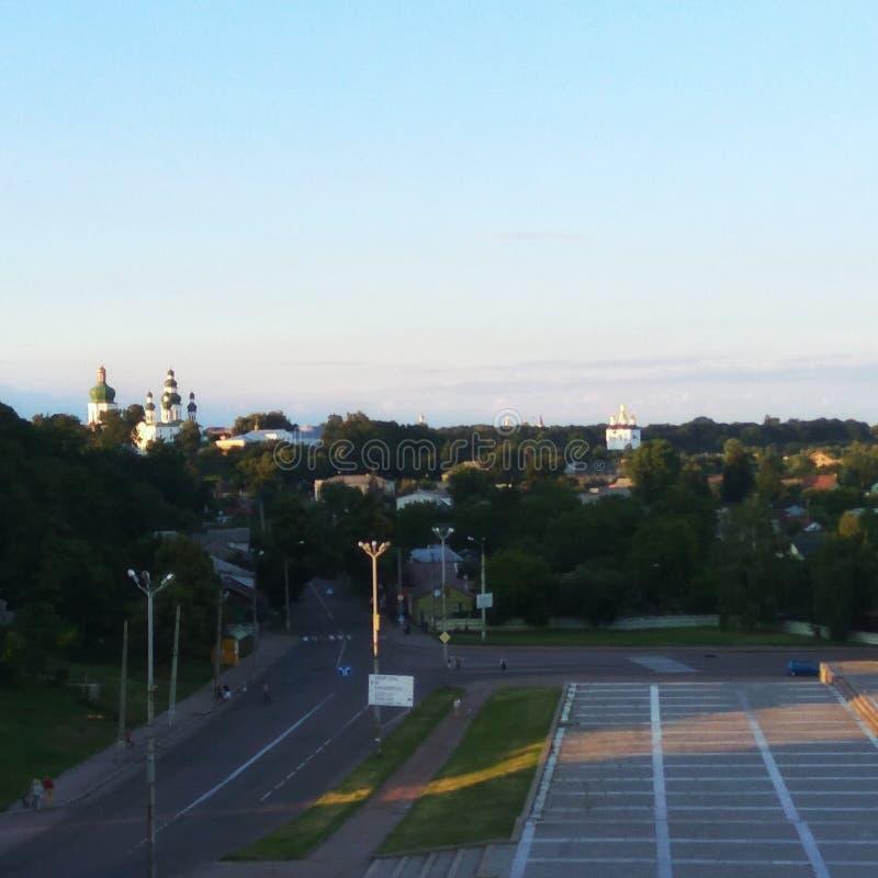 Schöne Ansicht über alte Stadt chernihiv lizenzfreie stockbilder