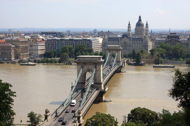 Schöne Ansicht über Budapest stockbild