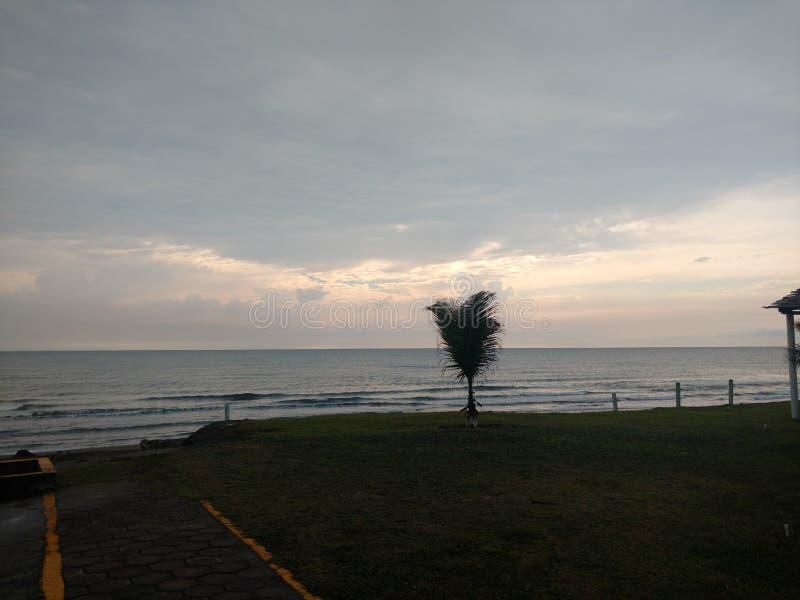 Schöne Ansicht in den Strand Mexiko lizenzfreie stockbilder