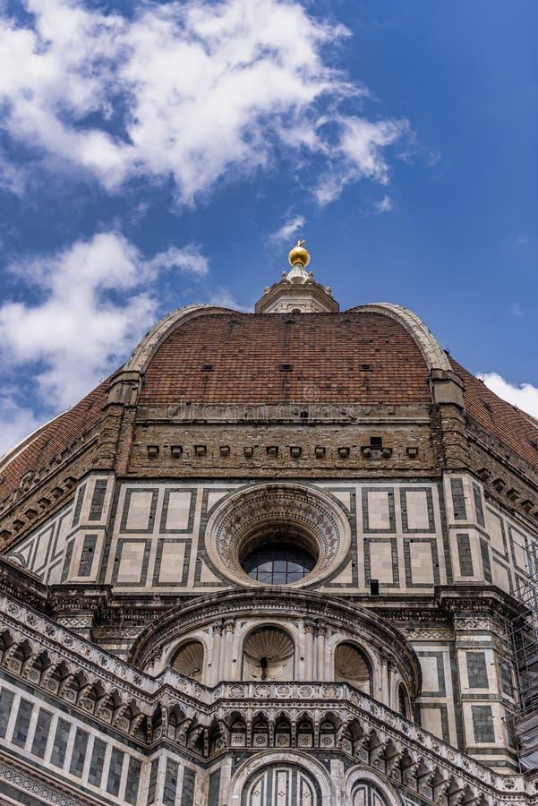 Schöne Ansicht der Haube des Marktplatzes Del Duomo in Florenz, Italien, stockfoto