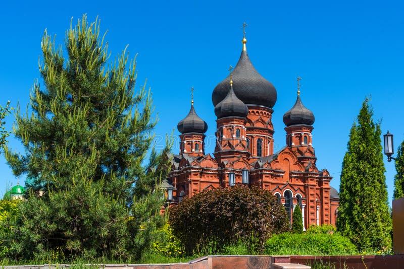 Sch?ne Ansicht der heiligen Annahme-Kathedrale in Tula, Russland lizenzfreie stockbilder