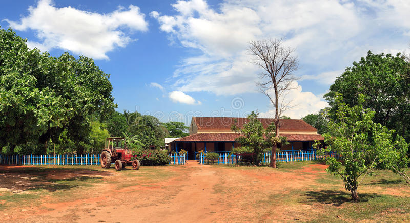 Schöne Ansicht der kubanischen Ranch lizenzfreies stockfoto
