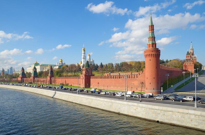 Schöne Ansicht des Moskaus der Kreml, Russland stockbilder