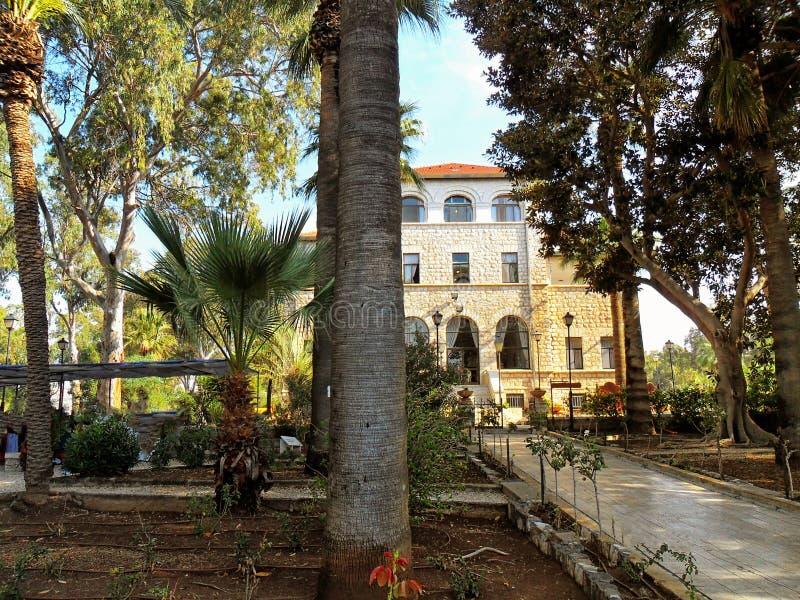 Schöne Ansicht des Tiberias, Kirche der Glückseligkeit, Israel lizenzfreie stockfotos