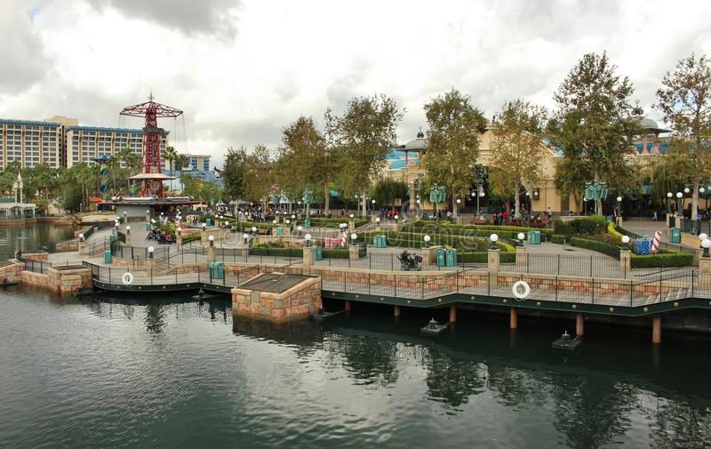 Schöne Ansicht Disneyland stockfotos