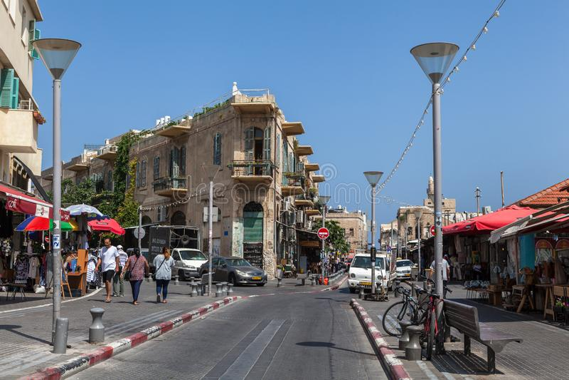 Schöne Ansicht Tel Avivs lizenzfreies stockfoto
