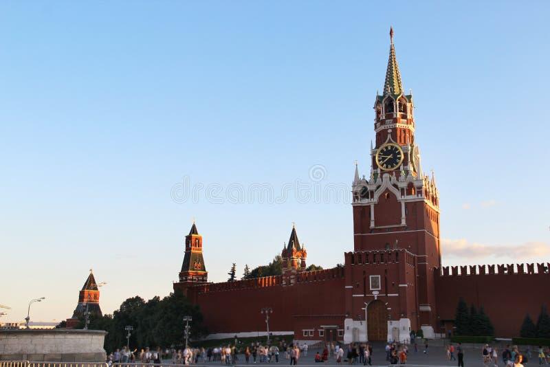 Schöne Ansicht vom Kreml, Moskau, Russland stockbilder