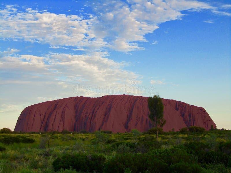 Schöne Ansicht von Ayers-Felsen Uluru stockbilder