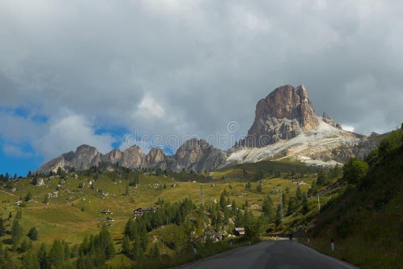 Schöne Ansicht von Dolomit-Alpen, Süd-Tirol stockfoto
