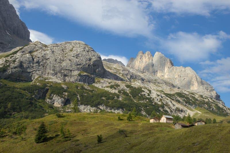 Schöne Ansicht von Dolomit-Alpen, Süd-Tirol stockbild