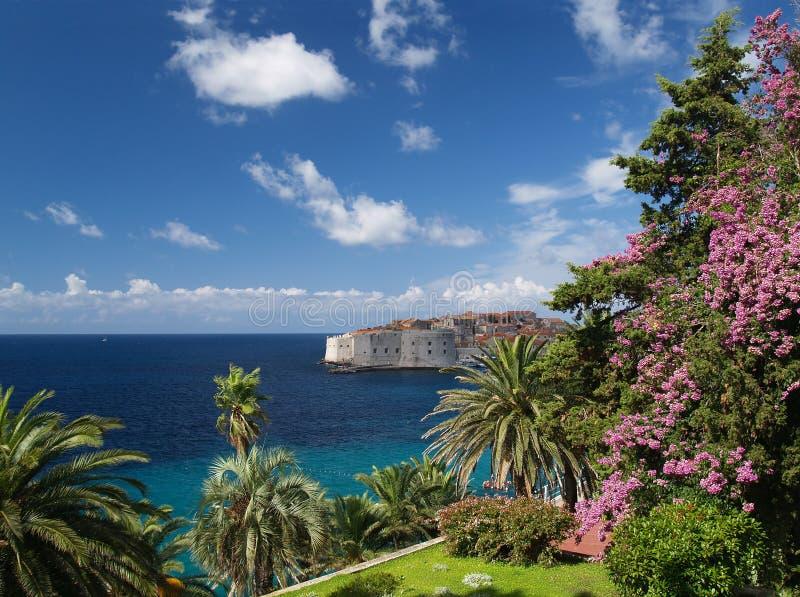 Schöne Ansicht von Dubrovnik stockfotos