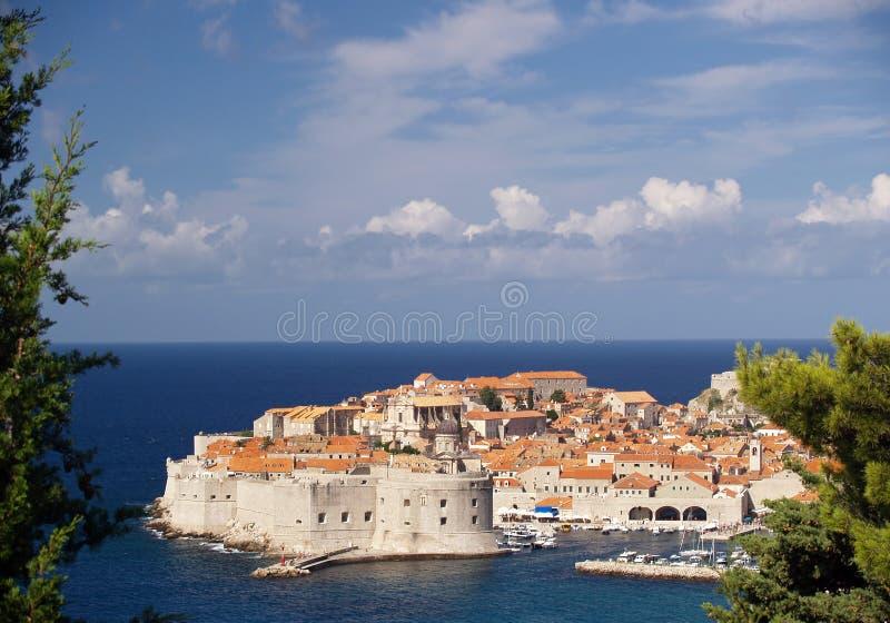 Schöne Ansicht von Dubrovnik lizenzfreie stockfotografie