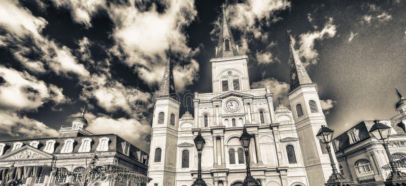 Schöne Ansicht von Jackson Square in New Orleans, Louisiana stockfoto