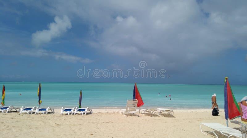 Schöne Ansicht von karibischem Meer stockfoto